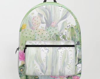 Cactus Backpack , Cactus bag , Green , Cactus Plant bag , Cactus , Leaves bag , Green bag , beach bag , backpack , school bag , Green Cactus