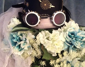 Black Steampunk Top Hat