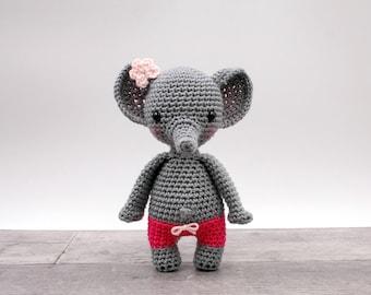 Crochet pattern: Eli the mini elephant