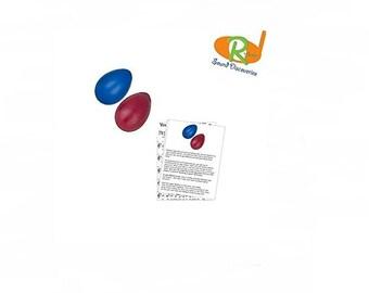 Children's Rhythm Egg Shakers w/Learn to Play Educational Music - (Apples & Bananas) #RSDBRS