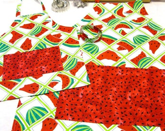 Watermelon Seeds Mother Daughter Aprons