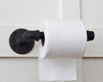 Toilet Paper Holder, Bathroom Toilet Paper Holder, Rustic Toilet Paper Holder, Industrial Bathroom Fixture, Toilet Tissue Holder, TP Holder