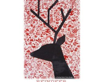 Reindeer Paper Pieced Pattern