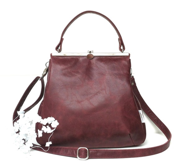 "leather bag,handbag black, kaa berlin, Klipper ""RUBIN"","