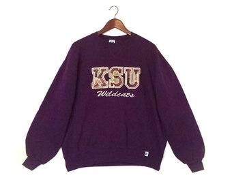 Vintage Kansas State University KSU Wildcats K-State crew sweatshirt