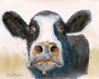 Eat More Chicken Please  - Fine art giclee print of my original watercolor painting.