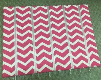 Hot Pink Chevron Hair Bow Holder Hair Bow Organizer