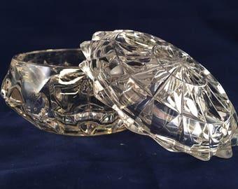 Pressed Glass Trinket Box