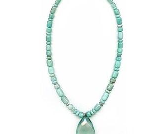 Amazonite and Apatite Necklace