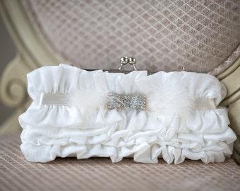 Wedding Handbag, Ivory Bridal Clutch, Bridal Purse, Bridal Handbag, Wedding Clutch, Wedding Purse