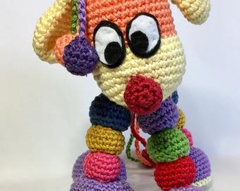 PUPPY CROCHET PATTERN, Softee, Toy pattern, Stuffed toy