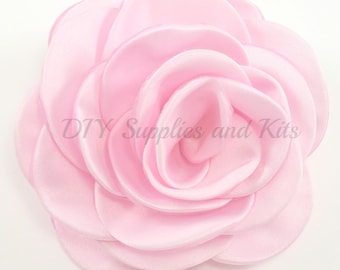 "Light pink - 3"" Rose petal flower - Light pink flower"