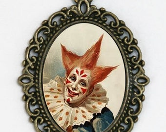 Circus Clown DIY necklace scary performer obscure punk