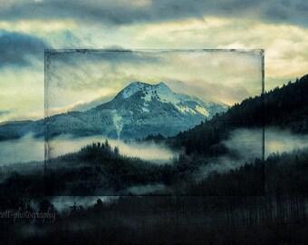 Washington Landscape | Nooksack River Valley | Mountain Landscape Photography | Nature Print | Evergreen Trees | Wall Art | Man Cave Decor