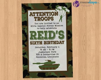 Army Green Camoflauge Birthday Party