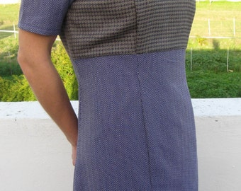 Violet/gray dress vintage style