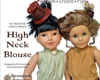 High Neck Blouse for 18 inch dolls