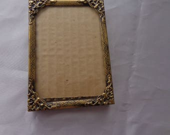 Brass tone older photo frame for crafting - age unknown crafting only!!!  Collage, Painting, etc