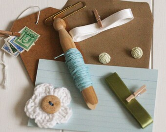 Garden Themed Scrapbook Embellishment Mini Craft Kit, Scrapbook Kit, Card Making Kit, Handmade Cards, Handmade Embellishments, Craft Kit