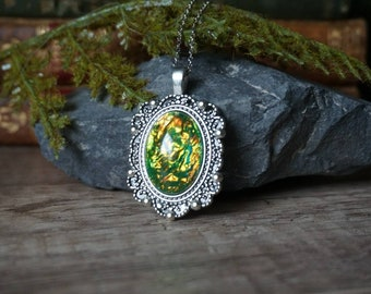 """Fairytale necklace """"green"""""""