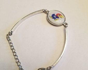 Jayhawk cabachon bracelet