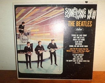 Vintage 1964 LP Record The Beatles Something New Capitol Records T-2108 Mono Very Good Condition 12415
