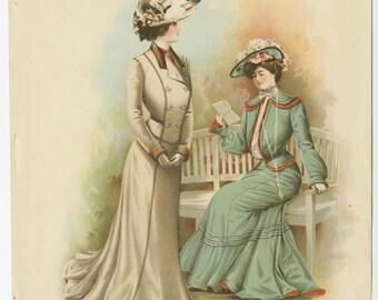 Edwardian Era Ladies with Fancy Hats