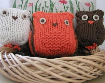 Owls Knitting Pattern