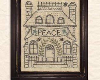 A Joyful Journey - Stitchery pattern by Kathy Schmitz - November - Peace at Home