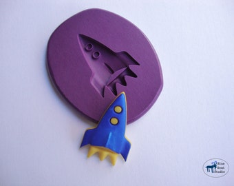 Rocket Mold - Spaceship Mold - Silicone Molds - Polymer Clay Resin Fondant Soap Wax Candy