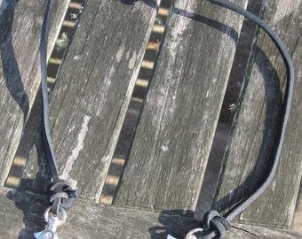 Black Leather Necklace Extender