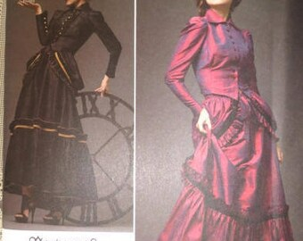 Steampunk Top and Skirt Sewing Pattern - Prom Dress Pattern - Simplicity 2207 - Sizes 6-8-10-12 - Goth Costume Pattern