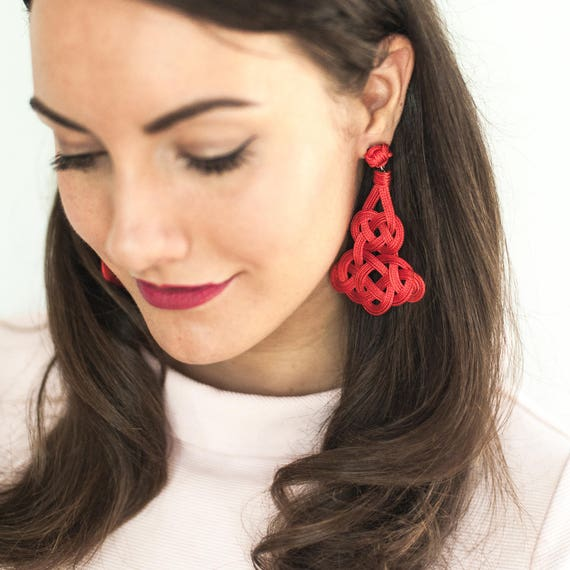 Arabesque Knot Earrings - Size Large