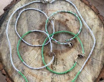 Handmade Simple Plastic Cord Glass Seed Beads Jewelry Set