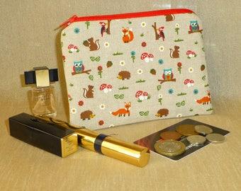 Woodland Coin Purse, Owl Coin Purse, Fox Coin Purse, Hedgehog Coin Purse, Woodpecker Coin Purse, Owl Makeup Bag, Woodland Medicines Bag