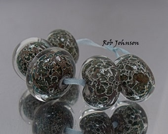 Snakeskin, Artisan Lampwork Glass Beads, SRA, UK