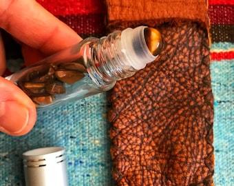 Healing for thy spirit    Medicine Pouch herbs gemstone roller bottle blessed intentional