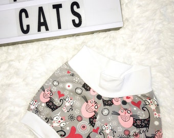 SHORTS, 12 months old, 80 size, girl shorts, shorties, kids shorts, toddler shorts, summer shorts, summer clothing, girl clothing, cats