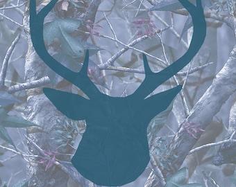 Camo Buck Print - Blue