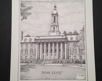 Penn State 8x10 print of Old Main