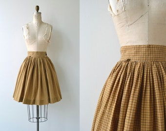 Denby Check skirt | vintage 1950s skirt | cotton 50s skirt