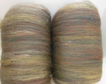 Fiber Batt - Merino and Soy Silk  4.5 oz 140 grams  (Hiking with Gnomes)