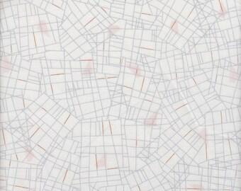 Dashwood Studios New Horizons Grid in White - Half Yard