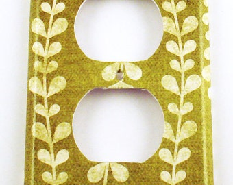 Light Switch Cover Outlet Plate  Wall Decor Decorative Switch Plate in  Vines (138O)