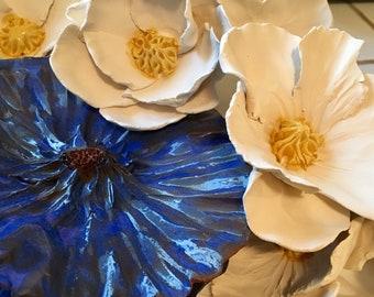 Ceramic Flowers Hand Made