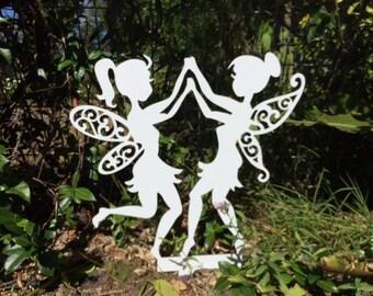 Dancing Fairies. Garden ornaments. Flowerpot Fairies. Weatherproof. Long-lasting.Will not rot.