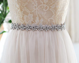 Crystal Rhinestone Vintage Bridal Sash / Wedding Sash/ Bridal Belt