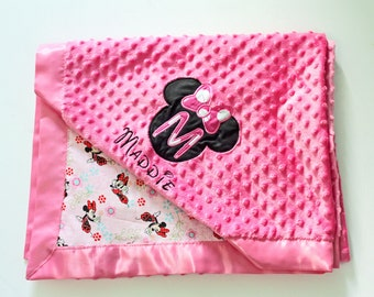 Minky Blanket, Baby Blankets, Minnie Mouse Blanket, Baby Shower Gifts,Boy Blanket, Minky Blanket, Baby Girl Blanket, Toddler Girl blanket,