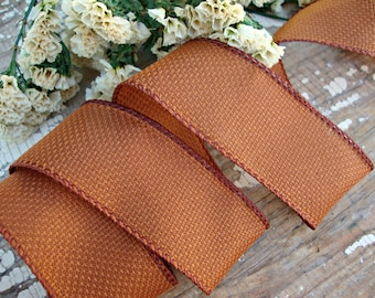 Woven Rust Wired Ribbon