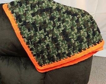 Camo Baby Blanket Crochet